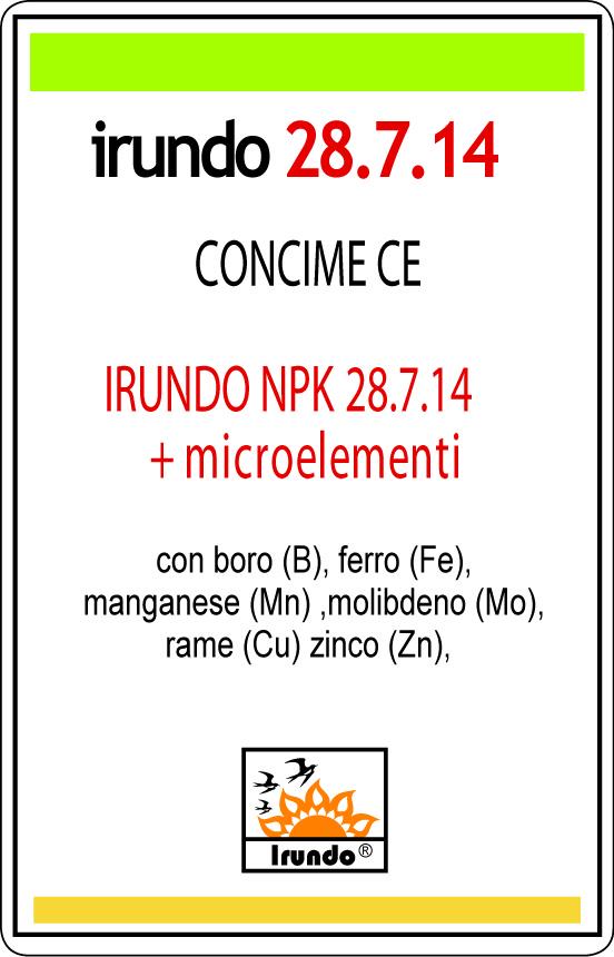 IRUDO NPK (N) 28. 7. 14 + M 1