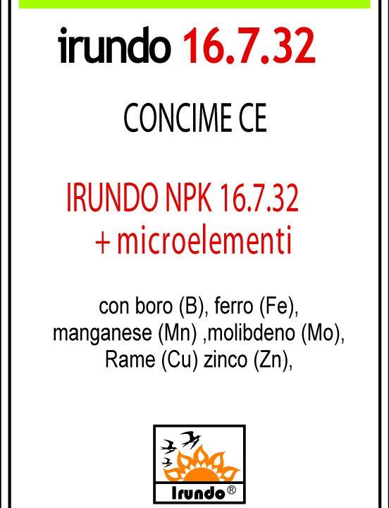 Irundo 16.7.32 + 3 + Microelementi